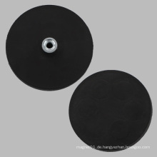 Schwarze Gummibasis Runde Magnet mit Pem Nut