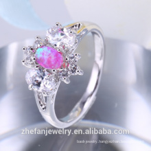 Fancy knuckle ring brass rings jewelry piston synthetic opal ring Indian engagement