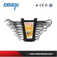 Fino clip de plástico dupla de plástico 8pcs Combinaton Wrench Set