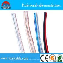 Cable Flexible del altavoz del alambre de la fábrica, cable audio y video, cable transparente del altavoz