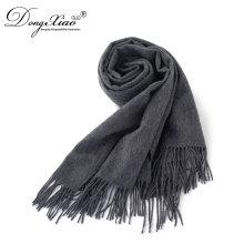 Regalos 2017 Súper fornido bufanda lana diseño personalizado Vintage llano de lana bufandas para hombres