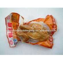 Sacos de embalagem de plástico a vácuo para frango