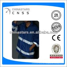 EN471 / ANSI impermeable azul reflectante para hombre