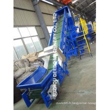 Machine de recyclage des déchets en plastique avec alimentation de force