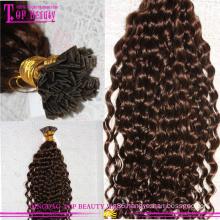U tip Nail Tip Hair Pre-Bonded Human Hair ombre u tip hair extensions