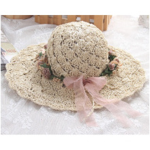 Summer New Wreath Hat, Pure Manual Sun Along Straw Hat
