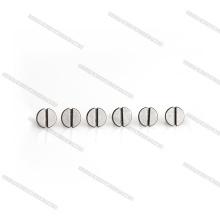 Mini Slotted Flat Head M3 Titanium Screws