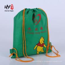 Горячая продажа нетканые рюкзак с карманами на молнии