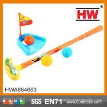 Забавная детская спортивная игрушка пластиковая игрушка для гольфа, установленная пластиковая клюшка для гольфа