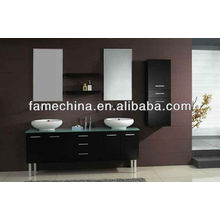 Floor touched American Modern large size double bathroom vanity