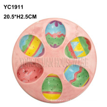 Ceramic Colorful Egg Plate