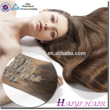 Hot Selling Direct Factory Wholesale 120G 140G 160G 180G Customized Double Drawn Thick Ends Remy Clip In Hair Extension