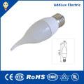 Aqueça a luz branca da vela do diodo emissor de luz de 220V Dimmable SMD 3W E27