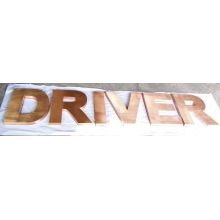 Kupfer Edelstahl Buchstaben Zeichen für Outdoor- und Indoor-Shop
