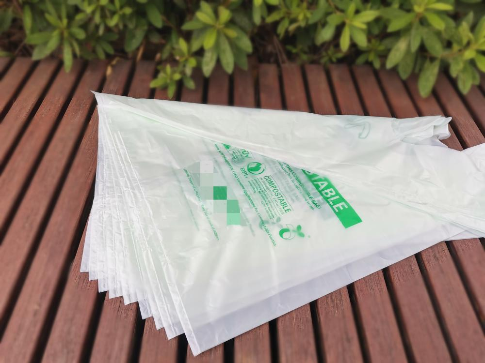 ASTM D6400 Certified Compostable Biodegradable T Shirt Bags