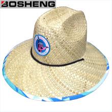 Sombrero recortado al por mayor barato de Panamá de la paja del borde ancho
