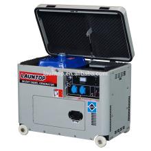 5.5kw 4-Takt, luftgekühlter, Einzylinder-Silent-Diesel-Generator mit Baldachin