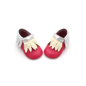 2018 Hot Red Christmas Baby Moccasins Groothandel