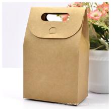 Brown Craft Bag Box with Handle