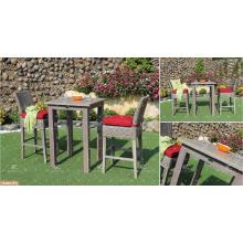 CANARY COLLECTION - La tabla vendedora más vendida de la barra del Rattan del PE y 2 sillas Muebles de jardín al aire libre