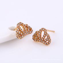 24993-Xuping charming gold plated crown earrings jewellery