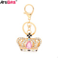 Key Chain Manufacturer China Custom Cheap Jewelry Diamond Gold Crown Keychain