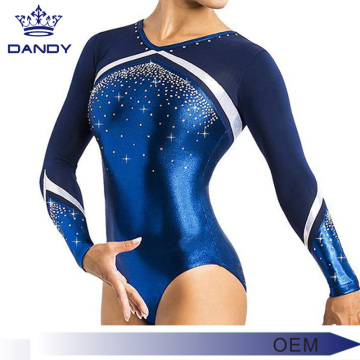OEM Shining Rhinestone Detaljerade Performance Leotards
