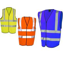chaleco reflectante de seguridad con 4 rayas reflectantes