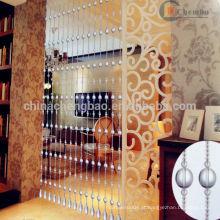 Sala de estar localização cortinas de contas indianas transparentes