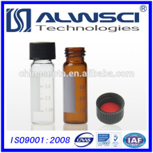2 ml 8-425 flacon ambré hplc avec étiquette