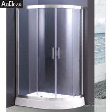 Aokeliya Germany Shower Enclosure with Dual Tempered Glass Sliding Door for Bathroom