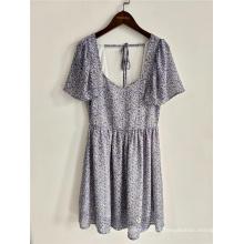Nuevo diseño de vestidos de dama de playa de manga corta