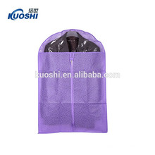 Home dress clothes non woven garment bag with zipper