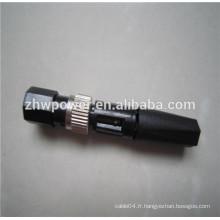 Connecteur rapide fibre optique FC, connecteur rapide fibre optique SX FC, connecteur rapide optique