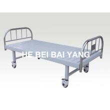 A-126 cama de hospital móvel plana