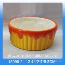 Colorful ceramic fruit bowl for home decor