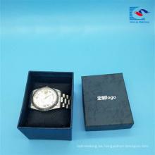 Caja de empaquetado del reloj de papel especial de encargo de la venta caliente con el logotipo de la hoja de la astilla