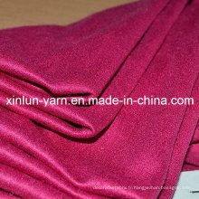Tissu ignifuge matériel de daim de tissu de polyester pour le vêtement