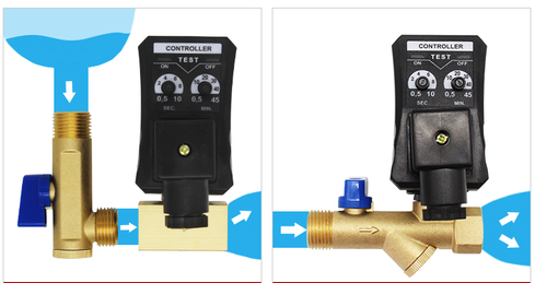 Working display of AC220V/110V Electronic Condensate Drain Valves