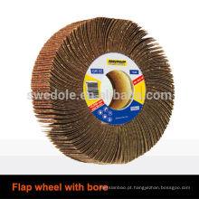 roda de aba abrasiva com furo