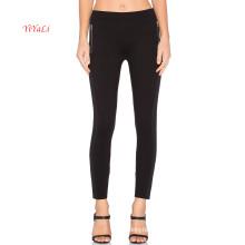 Dekorative Side Zipper Black Top Fashion Legging