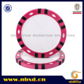 14G 3-Tone Twelve Stripes Diamond Clay Print Chip de poker
