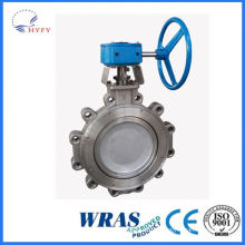 Durable in use acid butterfly valve rotary electric actuator