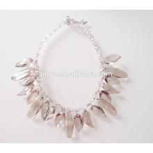 Bling Bling hellbraune Kristall Statement Halskette für Party oder Shows