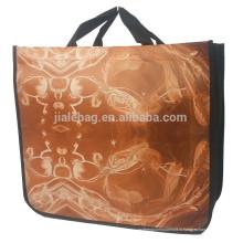 Круглый логотип углу подгонянный Non сплетенный мешок,нейлона складной хозяйственная Сумка