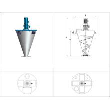 Doppelter Schraubenkegelmischer-Modell Dsh / doppelter Schrauben-Mischer für medizinisches