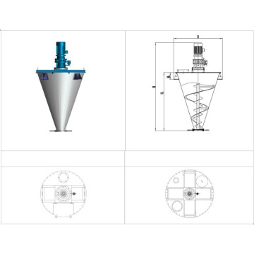 DSH Series Double Screw Cone Mixer--Helix Mixering machine
