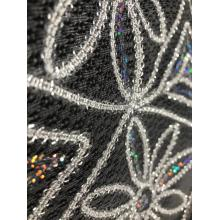 100% polyester tape sequin embroidery net fabric