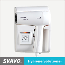 1300W Multi-Functional ABS Low Noise Wall Mounted Hotel Hair Dryer