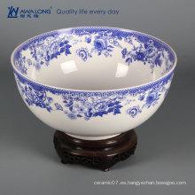 Azul y blanco diseño chino porcelana decoración del hogar